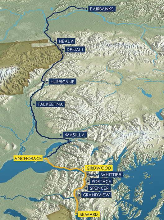 Alaska Railroad Map Route Map | Coastal Classic | Alaska Railroad