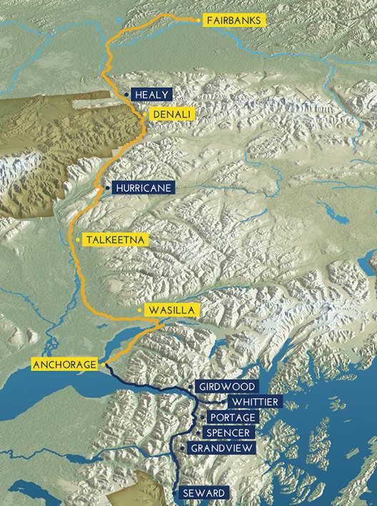 Route Map Denali Star Alaska Railroad